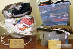 Donate, sell and recycle to de-clutter your life