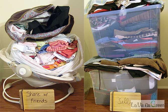 Donate, recycle and sell to de-clutter your life