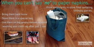 Disposable paper towel, napkins and tissues bag