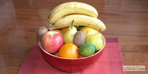 Eat one (or more) whole fruit a day (apple, bear, banana, orange, kiwi) or 1/2 to 1 cup if small fruit like berries
