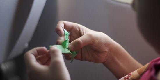 Caffeinated snacks: kids chewing gum