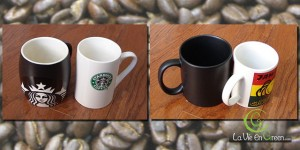 Use Starbucks ceramic reusable coffee tea cups or your own to reduce waste from paper cups