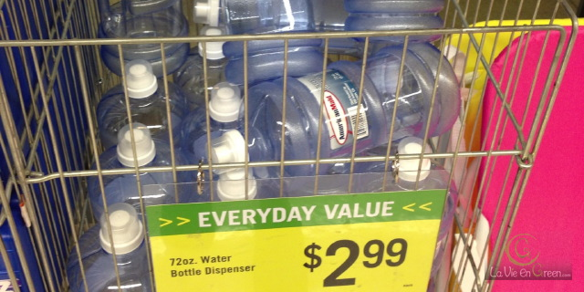 Recyclable reusable plastic water bottle