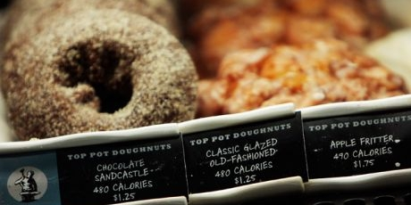 Starbucks posts calorie counts on menu boards nationwide