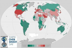 Earth Overshoot Day 2013 August 20 Creditors and Debtors countries