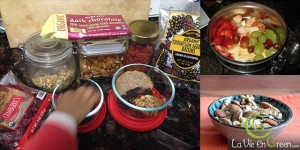 Healthy Halloween treats organic dried fruit dark chocolate almonds walnuts goji berries