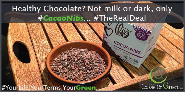 Not milk, not dark, the only healthy chocolate: organic non GMO cacao nibs