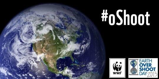 Earth overshoot day 2013 #oshoot WWF August 20