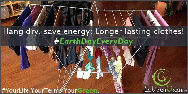 Using a Dryer? How About Hang Drying our Clothes!